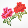 China wholesale garment Rose embroidery fabric flower WEF-553