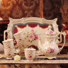 8pcs/set Mosaics metal arabic tea cup set European Court square coffee sets for home and party