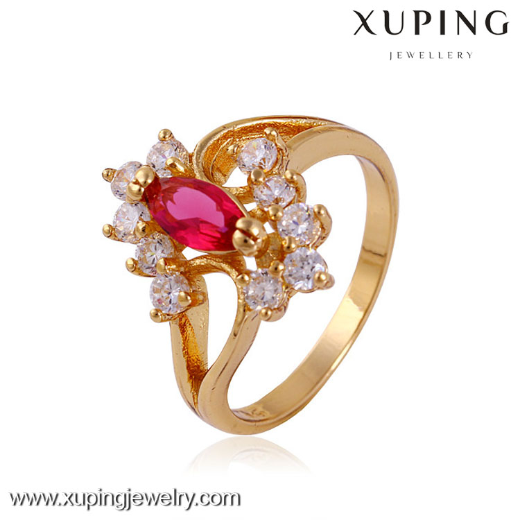 11425 Good quality sell well 18k gold color jewelry ring model