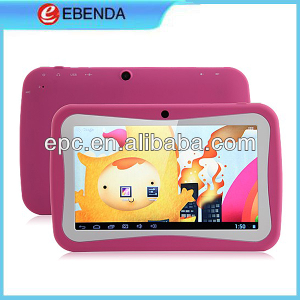 China cheap tablet pc with RK2926 ARM 512MB RAM 4GB ROM Dual Cameras WIFI Android 4.1 kids tablet pc