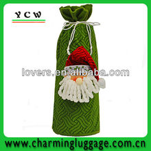 Cheap Christmas gift bag Velvet drawstring bag bottle wine bag