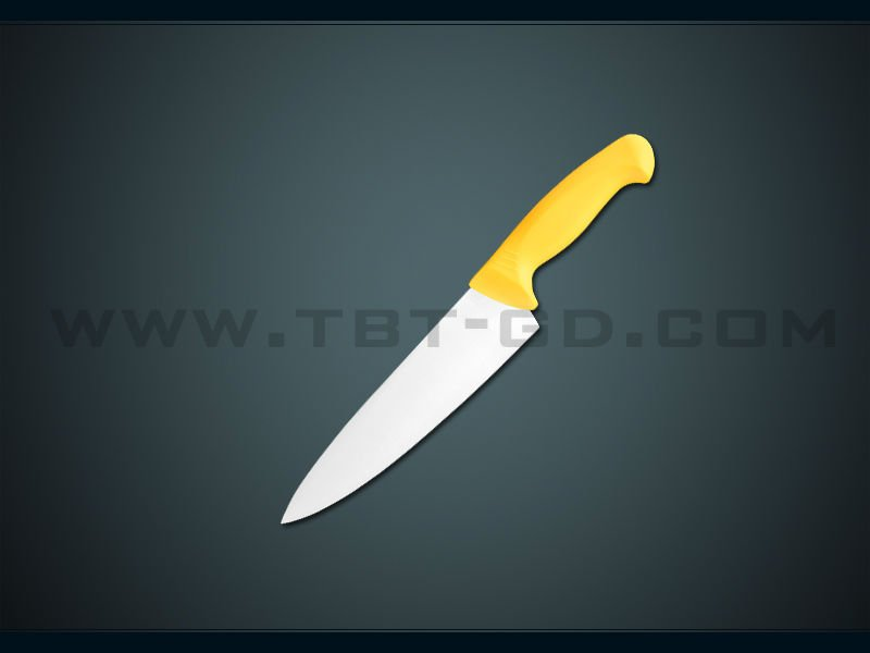 "Stainless steel 6"" chef knife with TPR handle"