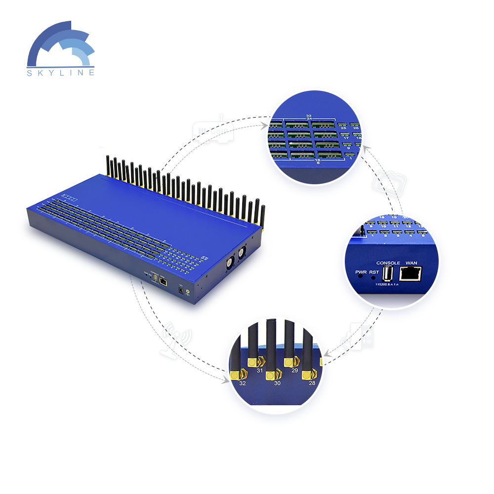 Wholesale Sk 32 Ports 128 Sims Voip Gsm Gateway Goip, Sms Gateway Factory Price From China