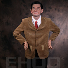 lifelike wax museum figure Hollywood celebrity Mr.Bean wax statue for display