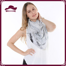 Fashion Spring/summer Sample Viscose Snood Scarf with scale printed