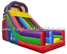 2015 wet dry commercial inflatable water slide slip n slide,giant inflat slide for kids and adult F4002