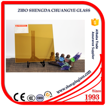 Shengda manufacturer 17mm thickness golden stained glass