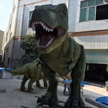 Fiberglass large dinosaur cartoon statues