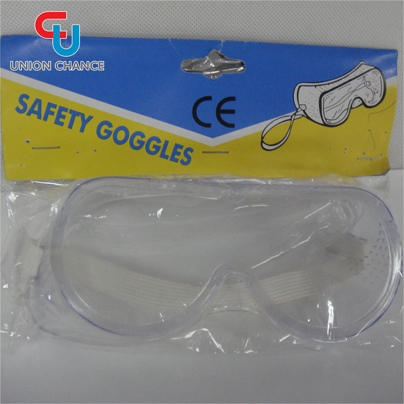 White Color New Adjustable Shield Work Construction Goggles Protective Safety Glasses