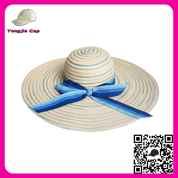 Manufacturer lady straw beach hats wide brim floppy colourful craft straw hats wholesale