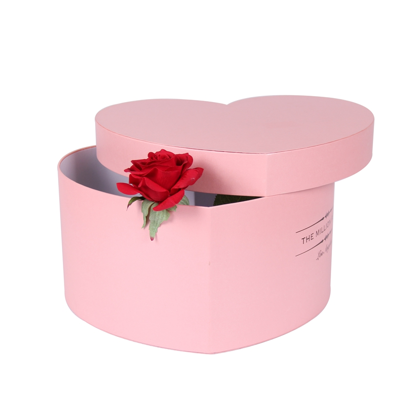 Waterproof heart shape carton flower rose gift boxes for packing