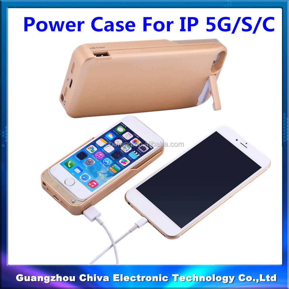 Wireless Backup Battery Case for iPhone 5, for iPhone Case Power Bank 5/5C/5S/5SE 4200mah
