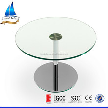 10mm thick polishing clear tempered round toughened glass for table top