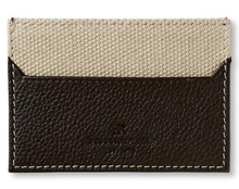 Leather canvas slim card case / holder