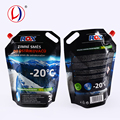 Flexible Stand Up Plastic Liquid Packaging Bag With Handle And Spout