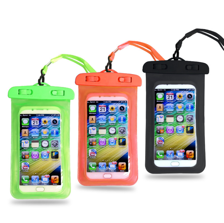 Smart Transparent Phone PVC Dry Bags Pouches Mobile Phone Waterproof Bag