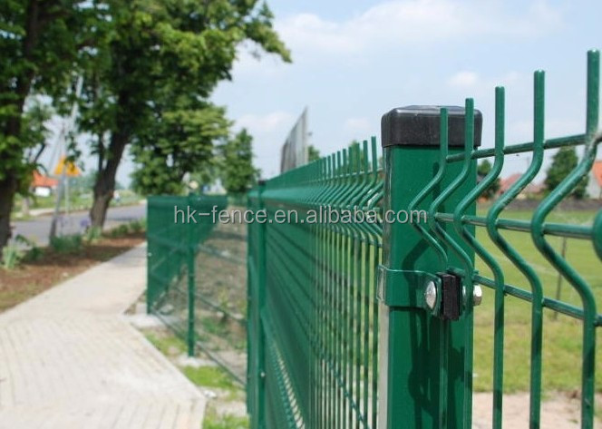 galvanized PVC coating security wire mesh fence for boundary wall