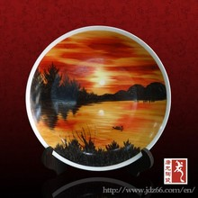 Attractive Chinese decorative plate best gift for business partner