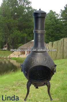 Antique Design Cast Iron Chiminea