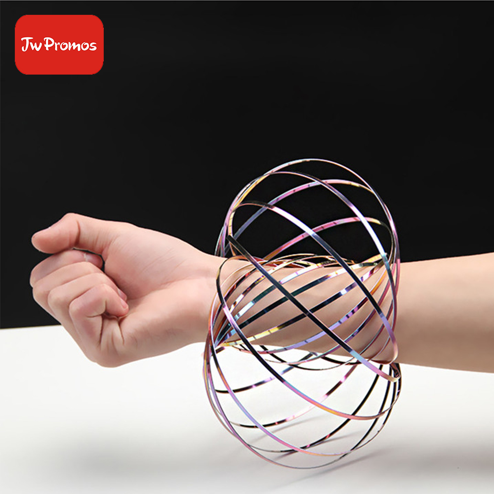 2018 New Creative flow ring Kinetic Spring <strong>Toy</strong> 3D Shaped 304 Stainless Steel Magic Ring