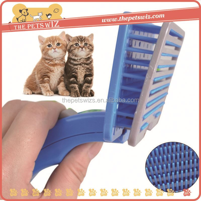 Pet hair romove brush ,CC044 soft grip handle pet slicker brush for sale