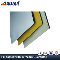 Alusign aluminum composite panel pe coating for ceiling decoration with colorful surface