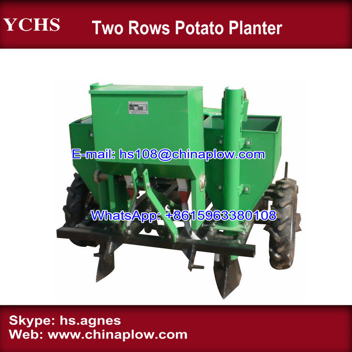 Farm machinery 3 point two rows potato planter with high quality