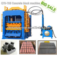 QT6-15B Automatic precast concrete block machine / pallet block extruding machine