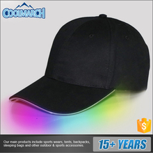 Custom fashion baseball caps with led lights for spring/summer