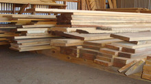 Cedar plank wood sawn timber
