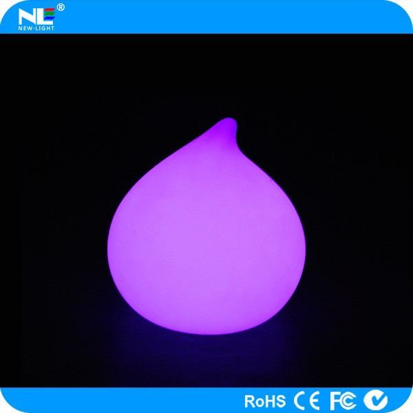 Eye catching color flashing plastic glowing LED cordless peach light / LED Christmas table decoration