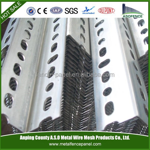 Manufacturer galvanized iron steel angle bar/perforated angle steel/steel angle