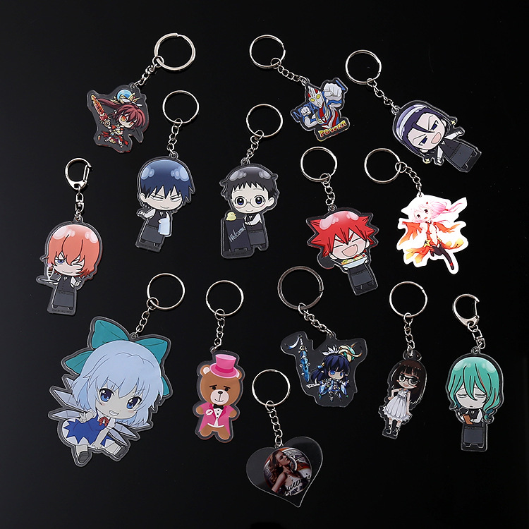 New Arrival!!! China Manufacturer cheap price personalized printed cusomized acrylic keychain