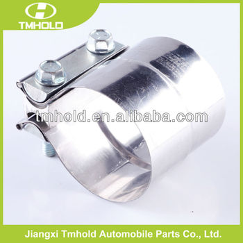 Stainless steel exhaust muffler clamp for car