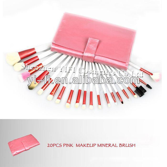 Professional 20pcs pink makeup brush high quality air brush makeup kit