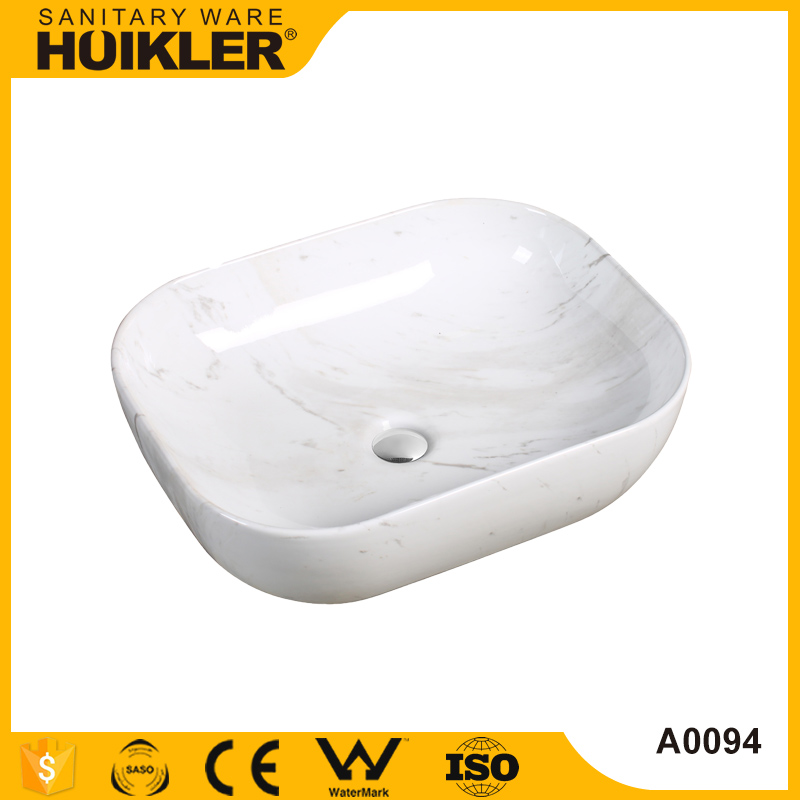 Modern bathroom Cheap bathroom vanity corner sink, italy marble pedestal sink for hot sale