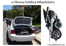 8''10'',12''e-Throne folding electric wheelchair,mobility scooter for olderly ,disabled and handicapped