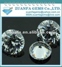 fashionable shining round brilliant cut high-quality cz stones
