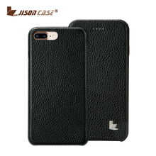 Jisoncase Ultra Thin genuine leather cell phone Case Cover For iPhone 7 plus