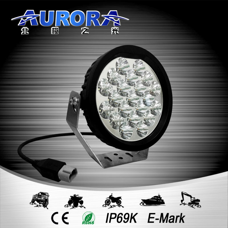 shenzhen factory E-mark certified AURORA 5 inch led off road light bar 12V