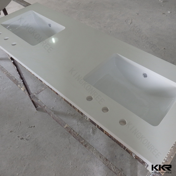 Molded Double Sink Commercial Bathroom Vanity Tops