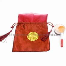 OEM service Chinese style satin drawstring bag pouch