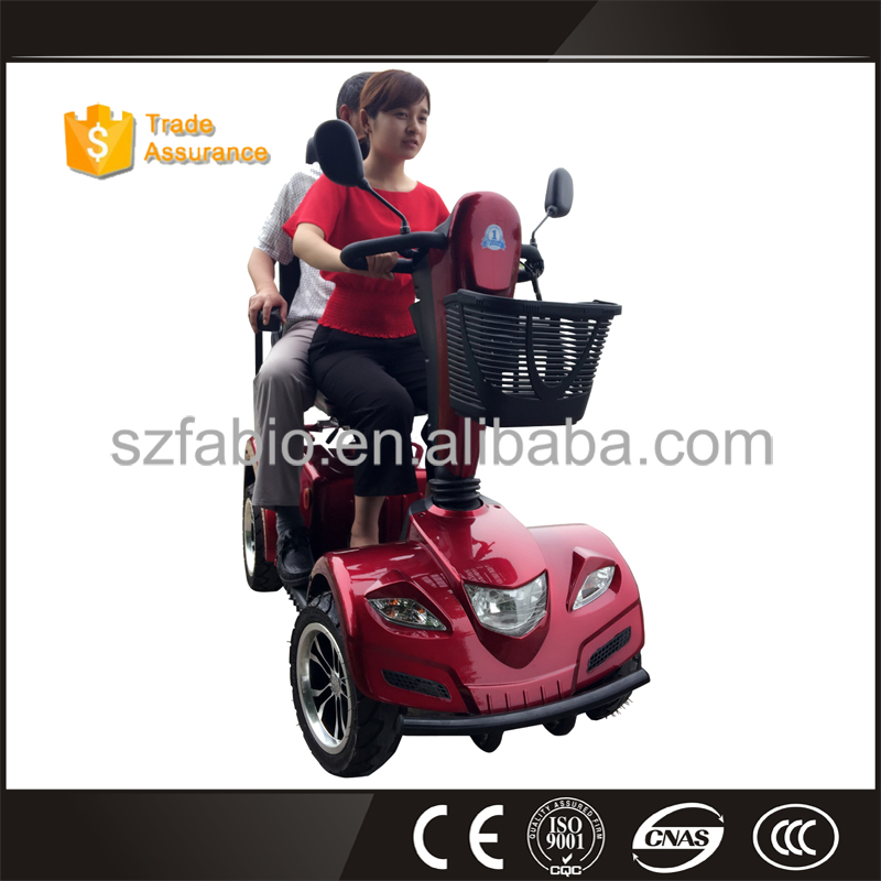 4 wheel 2 seat red electric mobility scooter