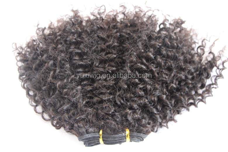 Kinky Curly Virgin Human Hair extensions,Full Head Weft