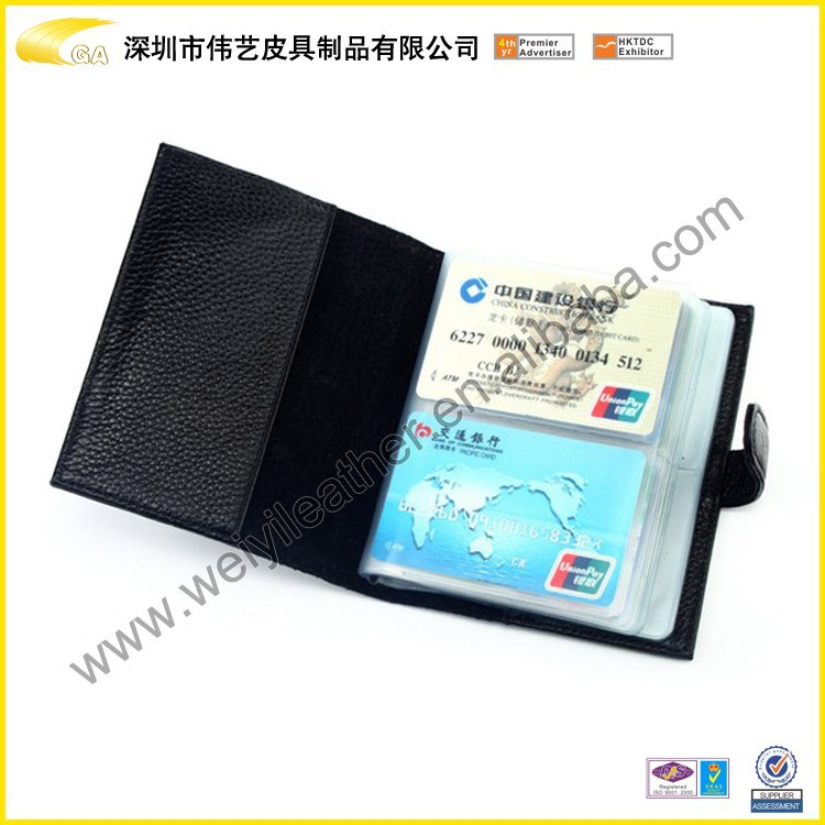 Weiyi Factory Wholesale Custom Custom PU Leather Business Card Holder ,Card Case With Magnetic Closed