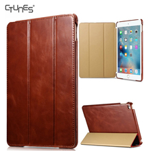For iPad Pro 12.9 Case,Vintage Genuine Leather Flip Folio Stand Smart Cover With Auto Wake Sleep For Apple iPad Pro 12.9 Inch