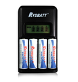 US plug AA AAA intelligent fast charger 4 slot bay battery charger with LCD display for NI-MH NI-CD 1.2V 1.5V battery