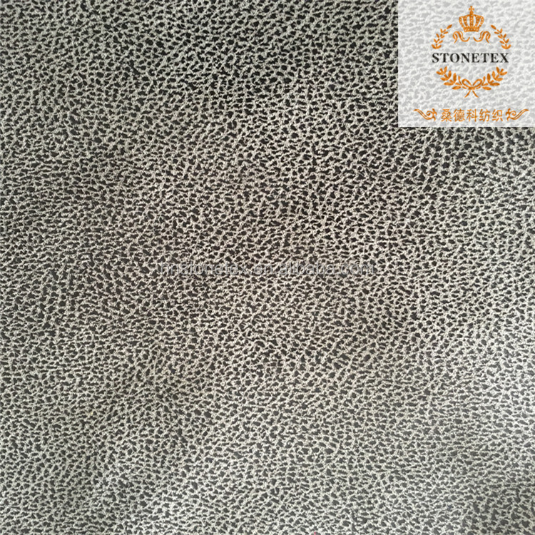 Embossed 100% pu covering materials for sofa and home textile decoration