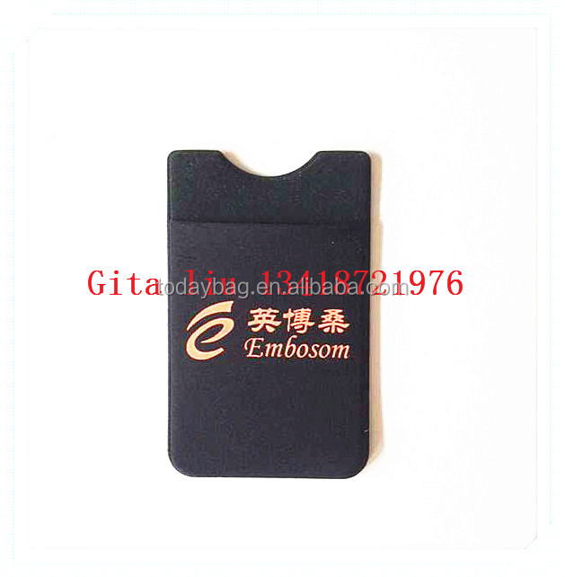 Fancy Mobile Credit Card holder 3M Adhesive Phone Wallet Sticker