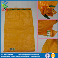 strong quality bright shine color cheap price net potato onion mesh package woven plastic cloth net bags